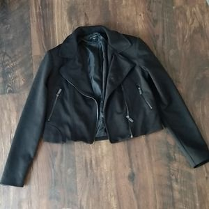 Black Cropped Blazer Jacket